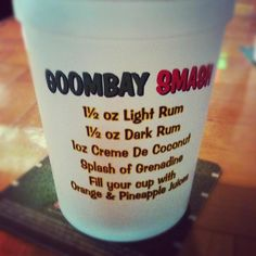 Goombay's (on MP 7) signature drink -- Goombay Smash