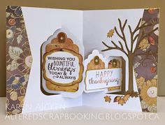 Karen Aicken using the Pop it Ups Tags Pivot Card, All Seasons Tree and Hay There die sets by Karen Burniston for Elizabeth Craft Designs. - C4C292 Challenge Card