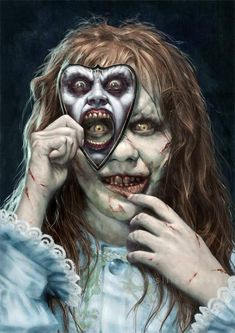 Amazing horror art, The Exorcist recover deleted photos android 2020 Horror Movie Tattoos, Horror Movie Characters, Horror Movie Posters, Film Posters, Exorcist Movie, The Exorcist, Desenhos Halloween, Scary Wallpaper, Horror Drawing