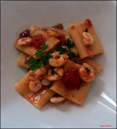 SaporInfoto: Paccheri Gamberi e Pomodorini