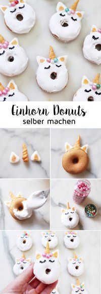 Einhorn-Donuts-backen-Rezept-Unicorns-DIY-Blog