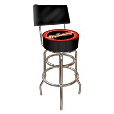Special Offers - Budweiser Padded Swivel Bar Stool with Back - In stock & Free Shipping. You can save more money! Check It (May 12 2016 at 10:54AM) >> http://sofaarmchairusa.net/budweiser-padded-swivel-bar-stool-with-back/