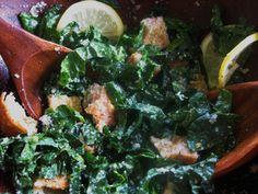 No Fail Kale Caesar Salad