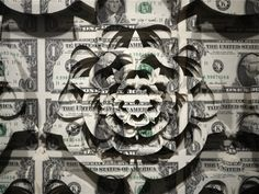 Scott Campbell, Noblesse Oblige sculpture paper money 3d