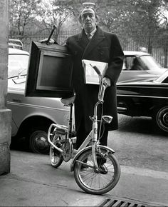 Salvador Dali style with #Graziella vintage #folding_bike
