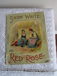 1901 Snow White and Red Rose Antique Soft Cover Children's Book McLoughlin Bros Vintage Children's Books, Antique Books, Popular Stories, Book Gifts, Red Roses, Childrens Books, Whimsical, Snow White, Antiques