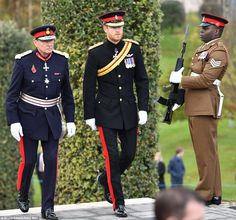Prince Harry is at a Service of Remembrance at the Armed Forces Memorial with representatives from the Army, Navy and RAF to mark Armistice Day.