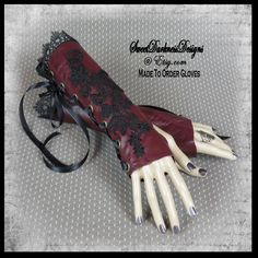 Gothic Wrist Cuffs Gothic Corset Fingerless Gloves MADE TO ORDER Gloves Wrist Corset Leather Gloves Gothic Clothing by SweetDarknessDesigns by SweetDarknessDesigns on Etsy