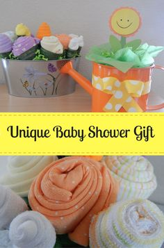 Can you believe that everything included on this garden baby shower gift is…