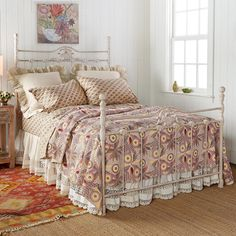 """MARMALADE HILL LIGHTWEIGHT QUILT--Our lovingly handmade lightweight quilt is subtly hued, supremely soft and kantha stitched. The worldly sophistication of the print fits in any bedroom motif, from feminine to rustic to modern. Cream colored back. Cotton. Imported. Exclusive. Full/Queen, approx. 96""""L x 92""""W"""