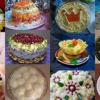 12 рецептов красивых салатов к новому году