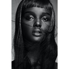 A conversation with Duckie Thot ❤ liked on Polyvore featuring backgrounds and people