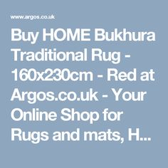 buy home bukhura traditional rug 160x230cm red at argoscouk