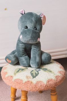 Stuffed Animal Hippo. Capture the sound of your baby's heartbeat in an adorable stuffed hippo.