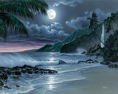 ocean waves | ... Ocean Painting Sand Waterfall Waves With Resolution 1280x1024 Pixel