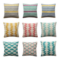 Geometric Cushion Cover Arrow Tribal BOHO Pillow Cover Grey Yellow Dot Ikat Boho Pillows, Throw Pillows, Geometric Cushions, Cover Gray, Grey Yellow, Ikat, Decorative Pillows, Arrow, Pillow Covers