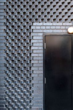 Decorative brickwork on the Ace Hotel in London's Shoreditch area, England - photo by Andrew Meredith, Tina Hillier, via universaldesignstudio; designed by Universal Design Studio Architecture Restaurant, Brick Architecture, Contemporary Architecture, Architecture Details, Mughal Architecture, Architecture Portfolio, Brick Masonry, Brick Facade, Facade House