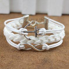 Infinity bracelet karma bracelet anchor bracelet by Goodlife188, $5.99