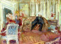 Edouard Vuillard, French, 1868-1940 The Hessel's Apartment, rue de Rivoli, Paris, 1903