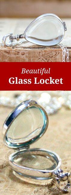 Beautiful Glass Locket - What would you put inside?