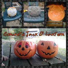 Concrete jack o' lantern