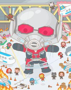 Mass Hysteria 2 – L'Expo Solo de Soft à la Gallery 1988 – Geek Art – Art… Ms Marvel, Marvel Avengers, Baby Avengers, Marvel Heroes, Marvel Movie Posters, Marvel Movies, Civil War Art, Captain America Civil War, Geek Art