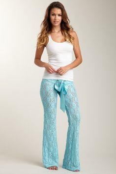 Powder blue lace pj pants!