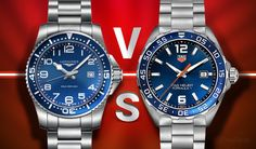 We're doing a side-by-side comparison to benchmark the Longines Hydroconquest VS. TAG Heuer Formula 1. Which do you think is Better?