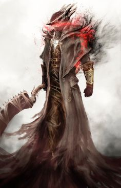 Bloodborne Hunter by ArtAnthonyZero on DeviantArt Dark Blood, Old Blood, Arte Dark Souls, Soul Saga, Bloodborne Art, Fantasy Warrior, Video Game Art, Dark Fantasy, Dark Art