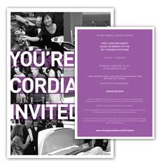 CATA First Look for Charity Invitation Design #typography #chicago #autoshow