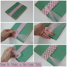 A simple tutorial for making a no-sew tutu with step by step photos.