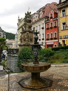 Karlovy Vary, Czech Republic. Hotel Promenada- the red building