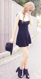 Kfashion   Black mini dress