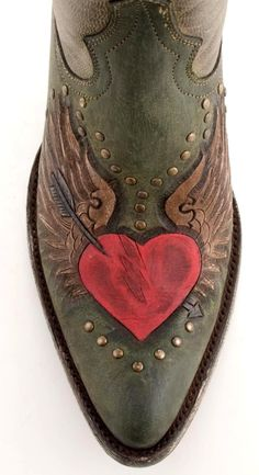Womens Old Gringo Cupido Boots Green