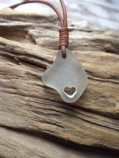 Sea glass jewelry Pure White Sea Glass Carved by byNaturesDesign, $18.00