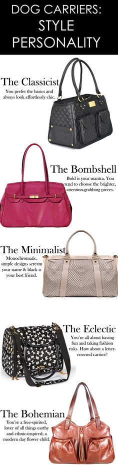 What's your style personality? Felixchien.com offers designer dog carriers for every fashionista. Find yours!