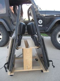 Jeep Wrangler TJ or JK 2-door Storage Cart/ Door Holder: