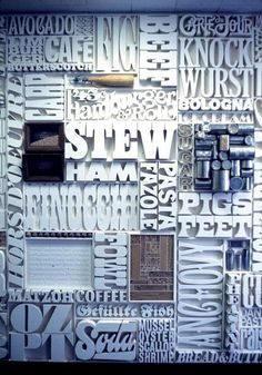 Font overload for #FontSunday @Design Museum: 1400 letters by Lou Dorfsman w/ #HerbLubalin for 60s CBS cafeteria wall pic.twitter.com/GyUBGlPBC2: