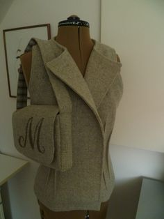vestje in wol met bijpassende tas