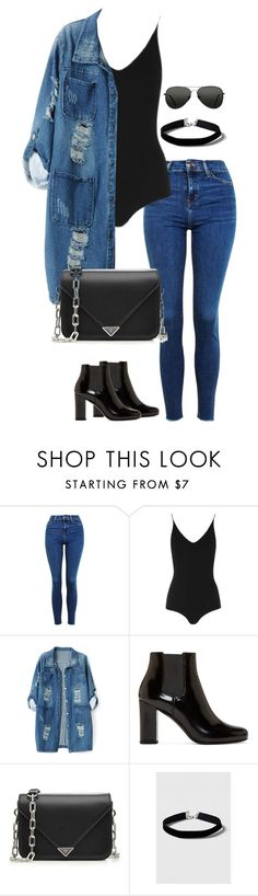 """""""Untitled #2574"""" by officialnat ❤ liked on Polyvore featuring Topshop, Chicnova Fashion, Yves Saint Laurent and Alexander Wang"""