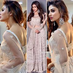 A-Line Wedding Dresses Collections Overview 36 Gorgeou… Indian Dress Up, Indian Gowns Dresses, Indian Attire, Dance Dresses, Indian Outfits, Mouni Roy Dresses, Indian Bridesmaids, Modern Saree, Lehnga Dress