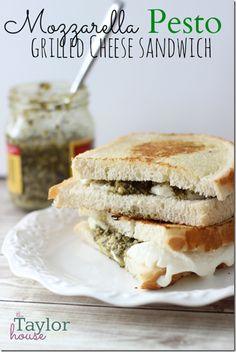 Mozzarella Pesto Grilled Cheese Sandwich
