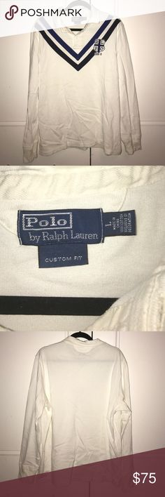 Ralph Lauren Polo custom fit long sleeve polo Ralph Lauren Polo custom fit long sleeve polo with insignia Polo by Ralph Lauren Shirts Polos