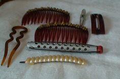 Hair Combs, Barretts, Hair Curler, and Hair Pin