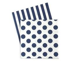Premium 3 ply napkins designed with coordinating patterns on both sides. Each pack includes 20 napkins. Folded size 5 x 5 in. Full Size 10 x 10 in. Polka Dot Paper, Blue Polka Dots, Beverage Napkins, Cocktail Napkins, Blue Tablecloth, Blue Cakes, Party In A Box, Tea Party, Party Napkins