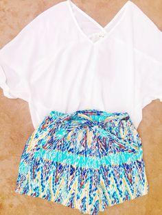 Francesca's top + shorts