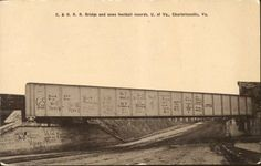 Chesapeake and Ohio Rail Road Bridge on West Main Street, Charlottesville, Virginia from University of Virginia Visual History Collection; Albert and Shirley Small Special Collections Library, University of Virginia.