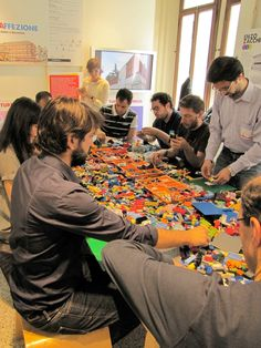 Playfulness: Lego Serious Play is a fun & effective approach to unleash collective creativity & engage participants, improving collaboration and idea sharing and making. People in the picture are building ideas during Bologna Global Service Jam 2013: the challenge was to imagine new services for the government. Everyone built metaphorical models of public services with LEGO and through playfulness and storytelling they came out with two concepts to make public service better. By Patrizia…