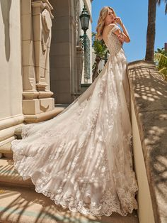 Aquarius Style by Val Stefani Brushed Shimmer Tulle & Floral Bridal Gown Bridal Gowns, Wedding Gowns, Lace Wedding, Bridal Headpieces, Wedding Hair, Bridal Hair, Dream Wedding, Fairytale Bridal, Wedding Venue Inspiration