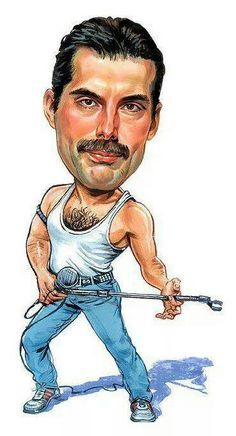 "Queen-Freddie Mercury ""Killer Queen"" Caricature Rock Sticker Or Magnet Cartoon Faces, Funny Faces, Cartoon Art, Cartoon Characters, Queen Freddie Mercury, Funny Caricatures, Celebrity Caricatures, Caricature Drawing, Killer Queen"